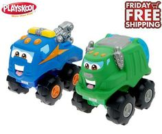 Playskool Cushy Cruisers Soft Trucks with Sounds (Choice of Tow Truck or Garbage Truck) FRIDAY FREE SHIPPING