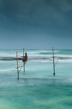 Stilt fishing in Koggala