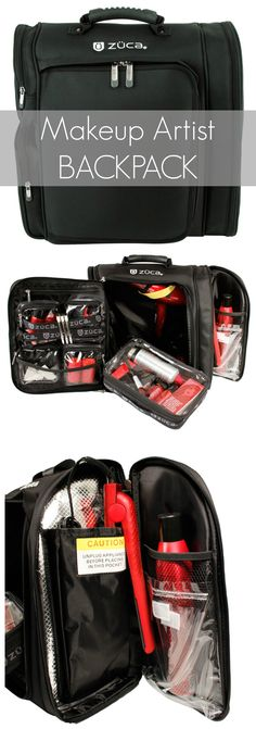 This has been by far my favorite makeup case ever. I can't believe how much I can pack in it & traveling with a MU kit is so much easier. - black shoulder bags for women, trendy bags, bag fashion *ad Makeup Case, Diy Makeup, Makeup Kit, Beauty Makeup, Makeup Style, Beauty Box, Makeup Storage, Makeup Organization, Makeup Artist Kit