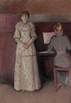 Artwork by Edvard Munch, Ragnhild and Dagny Juel, Made of oil on canvas