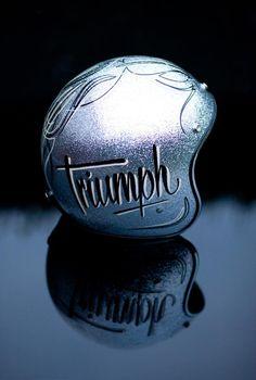 Silverness | Anchor & Bolts #triumph #motorcycle #motorbike #helmet #custom #paint