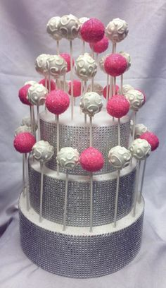 Bling cake pop stand and cake pops! www.cupcakeaffections.com