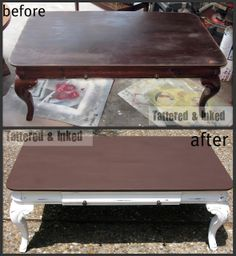 Distressed Coffee Table: Before and After