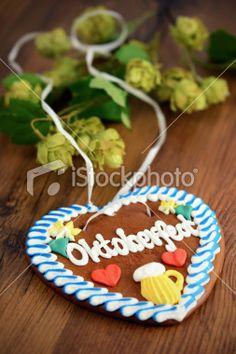 Oktoberfest Gingerbread Heart Cookie
