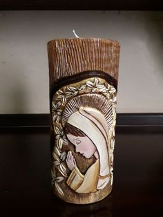 Candels, Sacred Heart, Candle Making, Hand Carved, Carving, Country, Handmade Candles, Joy, Saints