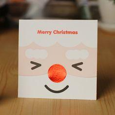 Wink Santa Christmas Card