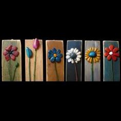 Bufalini - love these simple flowers on distressed wood