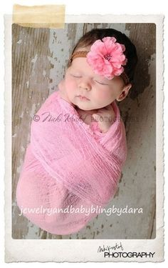 Cheesecloth Newborn Baby Wrap. Newborn photo idea.