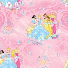 Character Prints - Princess - Disney Princess Blossom All Over in Pink - 7.99