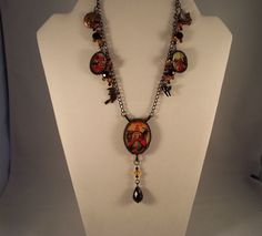 Vintage/chatelaine style Halloween necklace  by TSUSENCOLLECTIBLES, $29.99