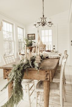 Holiday Housewalk with Balsam Hill Winter House, Small Farmhouse Table, Rustic Table, Farmhouse Decor, Christmas Dinning Table Decor, Christmas Decorations, Table Decorations, Simple Christmas Trees, Christmas Holiday