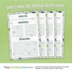 Free Editable Download In Ms Word Recipe Card Template  Recipe