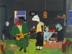 Southern living: 80 artworks by Romare Bearden at Newark Museum   NJ.