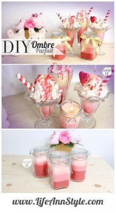 DIY Valentine's Day Sundae Candles    www.annlestyle.com