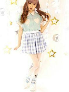 Harajuku Fashion, Kawaii Fashion, Lolita Fashion, Fashion Wear, Fashion Outfits, Harajuku Style, Kawaii Girl, Kawaii Style, Kei Visual