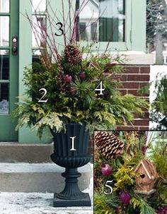 Designing a winter urn | Curb Appeal (GardeningLife.ca)