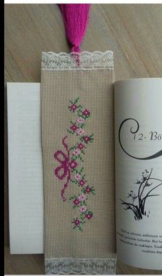 This post was discovered by Şe Diy Bookmarks, Cross Stitch Bookmarks, Cross Stitch Charts, Cross Stitch Patterns, Wool Embroidery, Hand Embroidery Stitches, Cross Stitch Embroidery, Embroidery Patterns, Sewing Art