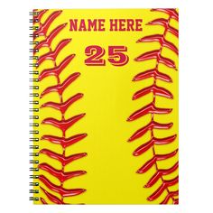 Cute Personalized Softball Notebooks, Your Text Spiral Notebook Softball Party, Volleyball Gifts, Girls Softball, Softball Stuff, Volleyball Drills, Girls Basketball, Volleyball Players, Basketball Cheers, Softball Hairstyles
