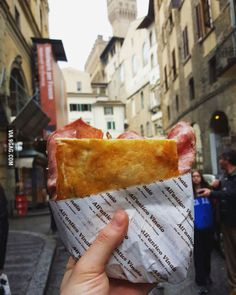 "The ""Favolosa"" from All'Antico Vinaio in Florence, Italy"