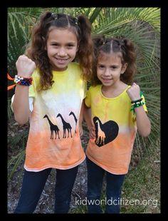 DIY African Sunset Tshirts Kids- Kid World Citizen