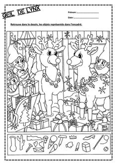 Christmas Hidden Picture Puzzles Printable Christmas Hidden Coloring Pages Colouring Pages, Printable Coloring Pages, Coloring Pages For Kids, Coloring Books, Coloring Sheets, Christmas Worksheets, Worksheets For Kids, Christmas Activities, Kindergarten Worksheets
