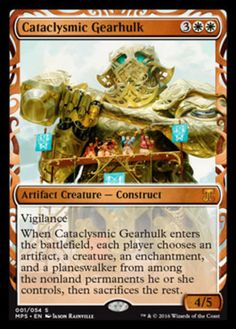 Cataclysmic Gearhulk FOIL Masterpiece Series Kaladesh Inventions Magic the Gathering card