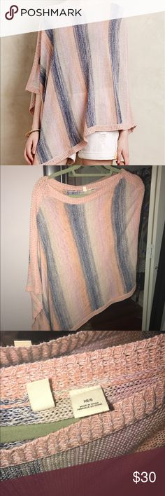 Anthropologie Moth Poncho Never worn! Amazing condition XS/S Anthropologie Tops