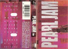 Pearl Jam Ten Cassette Tape Album Cover Pearl Jam Ten, Hand Symbols, Cassette Tape, Album Covers, Graphic Design, Visual Communication