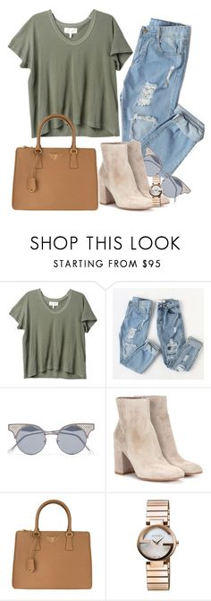 """something just like this"" by thefashionguilty on Polyvore featuring moda, The Great, Bottega Veneta, Gianvito Rossi, Prada y Gucci"