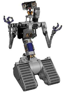 Johnny 5. I recently saw a picture of a guy controlling him with a remote and wearing a headset for the voice. Childhood ruined.