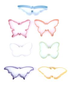 Take a look at this Colorful Seven-Piece Butterfly Cookie/Sandwich Cutter Set today!