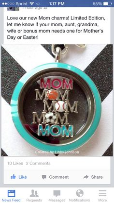 Special charms for Mother's Day!