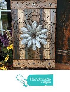 FLOWER MED GREEN Combo Reclaimed Wall Distressed Wood Pallet Shutter Sign Beautiful Metal Art (Metal Flower Style Varies) from Wooden Hearts https://www.amazon.com/dp/B01J29EX2U/ref=hnd_sw_r_pi_dp_Z0OPybHAKKB4D #handmadeatamazon