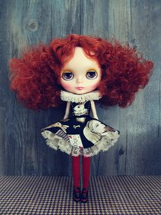 The ruff dress set of Alice's adventures in wonderland for Blythe doll~