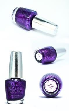 Opt purple glitter nail polish