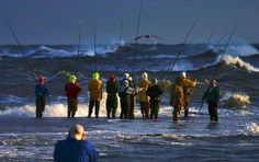 Surf Fishing at the Point on Hatteras Island, NC OBX  ©Bruce Wise