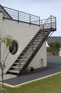 30 Amazing Outdoor Stair Design Ideas You Never Know Before with regard to Outside Stairs Design Railing Design, Staircase Design, Stair Design, Outside Stairs Design, Steel Stairs Design, Staircase Ideas, Stairs Architecture, Architecture Design, Amazing Architecture
