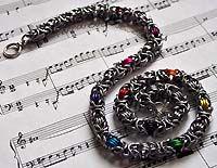 Rainbow Byzantine Chain by Joanne Collett