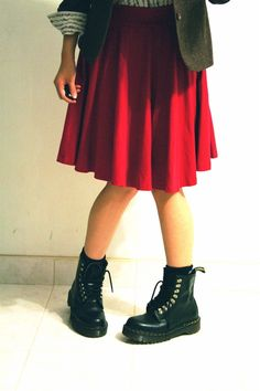 Anyone else happy that 90's fashion is back? Combat boots and skirts forever! I even wear my combat boots with my nice dresses.