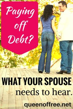 Paying off debt can take a toll on your relationship. Are you saying these 7 things to your spouse on a regular basis? You should! Debt Payoff Tips, #Debt