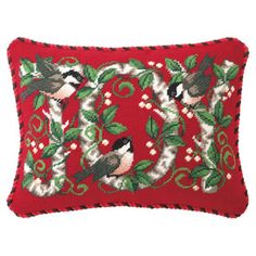Joy Chickadee Pillow