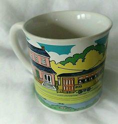 Vtg. St. Charles Streetcar Coffee Mug, New Orleans Trolley, Vieux Carre Creation