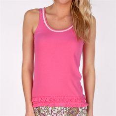 Kensie Ruffled Tank #VonMaur #Kensie #Pink #Tank #Pajama #Sleepwear