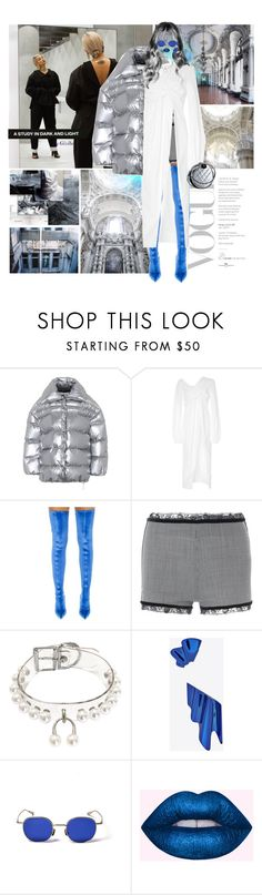 """""""You'll see a new me today"""" by gizibe ❤ liked on Polyvore featuring Off-White, SemSem, Balenciaga, La Perla and Yves Saint Laurent"""