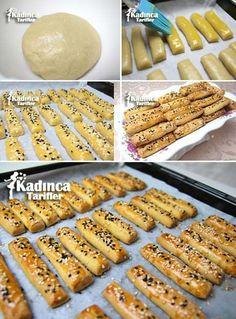 Margarinsiz Tuzlu Kurabiye Tarifi