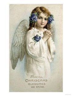 May All Christmas Blessings Be Thine Giclee Print at Art.com