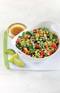 Black-eyed pea, pepper & corn salad. Get the recipe: http://bit.ly/1rIuYdF #recipe #dinner #salad #yum