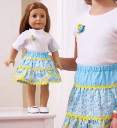Sew a Cute and Simple Tiered Doll Skirt