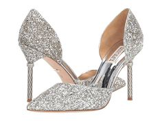 Discover recipes, home ideas, style inspiration and other ideas to try. Silver Sparkly Heels, Silver Wedding Shoes, Wedding Shoes Bride, Silver High Heels, Silver Pumps, Silver Dress Shoes, Silver Outfits, Wedding Attire, Wedding Dresses