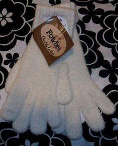 NWT Fownes Ivory Quality Fine Knit Winter Gloves with Roll Down Cuff Plush Soft